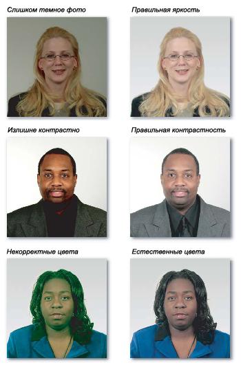 примеры правильных фотографий на визу